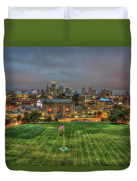 Union Station Dawn Kansas City Missouri Sunrise Art  Duvet Cover
