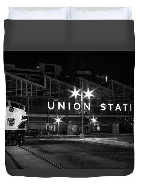 Union Station Night Glow Duvet Cover