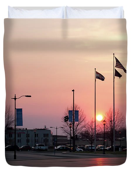 Union Station Sunset Duvet Cover