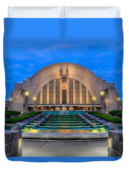 Union Terminal At Sunrise II Duvet Cover