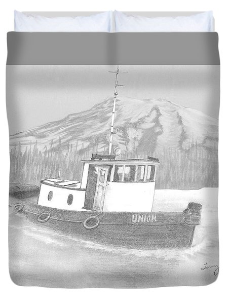 Tugboat Union Duvet Cover by Terry Frederick