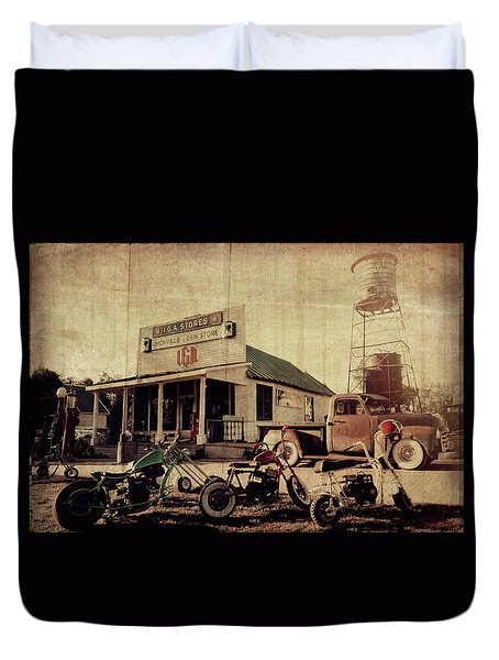 Duvet Cover featuring the photograph Unionville Genral Store by Joel Witmeyer
