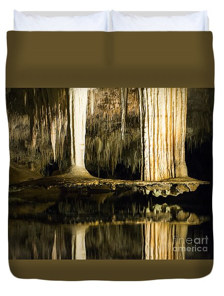 Duvet Cover featuring the photograph Unique Formation by Angela DeFrias