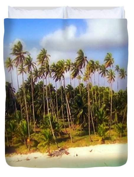 Unique Symbolic Island Art Photography Icon Zanzibar Sands Beaches Tourist Destination. Duvet Cover