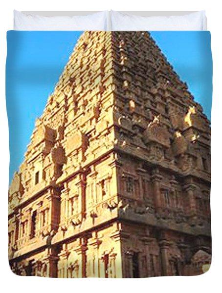 Duvet Cover featuring the photograph Unique Temple Tower by Ragunath Venkatraman