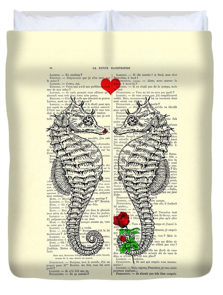 Unique Valentines Day Gift Ideas, Seahorses Duvet Cover