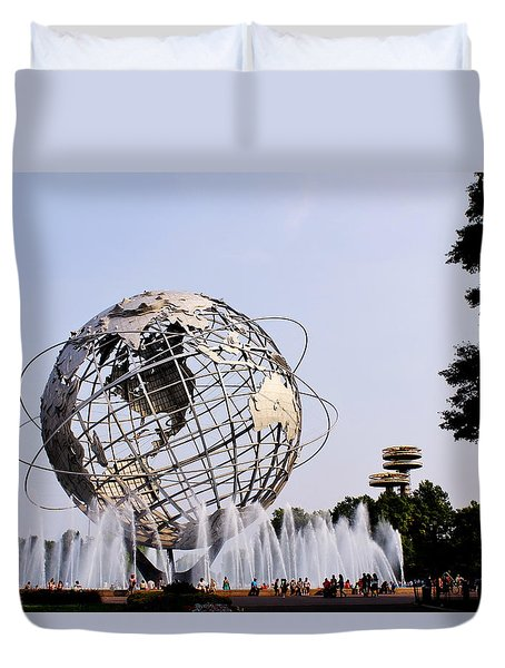 Unisphere Fountain Duvet Cover