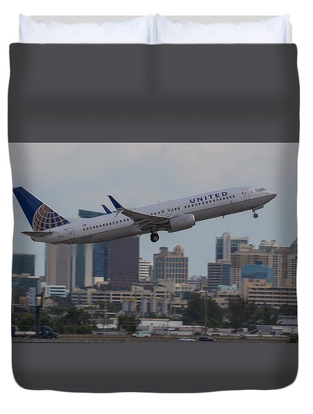 United Airlinea Duvet Cover