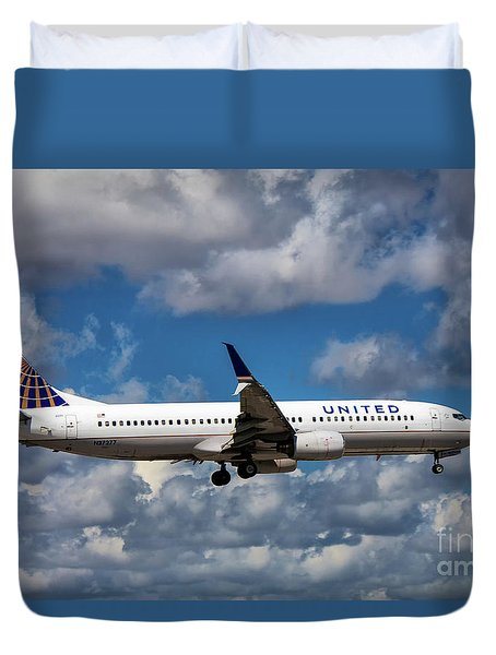 United Airlines Boeing 737 Ng Duvet Cover