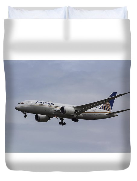 United Airlines Boeing 787 Duvet Cover