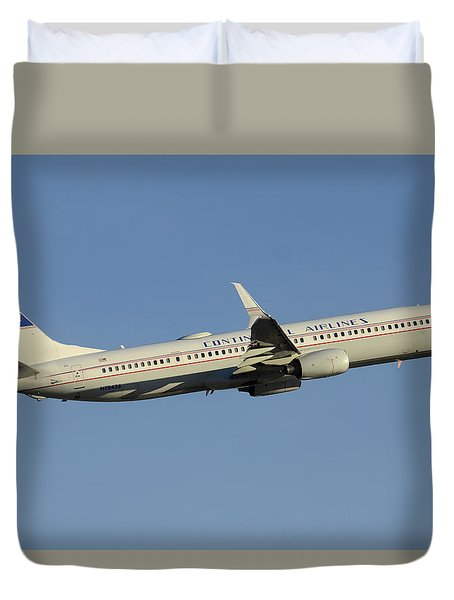 United Boeing 737-924 N75436 Retro Continental Phoenix Sky Harbor December 9 2015 Duvet Cover by Brian Lockett