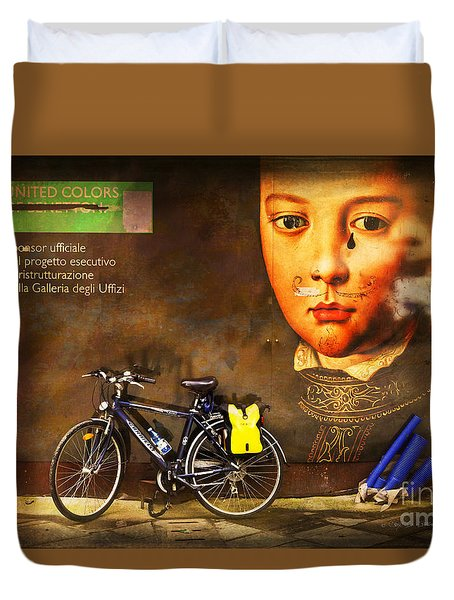 Duvet Cover featuring the photograph United Colors Bicycle by Craig J Satterlee