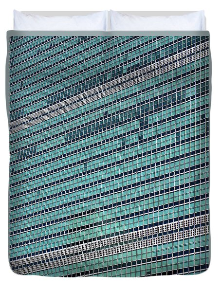 Duvet Cover featuring the photograph United Nations 2 by Randall Weidner