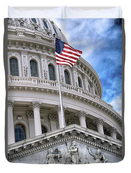 United States Capitol Building  Duvet Cover