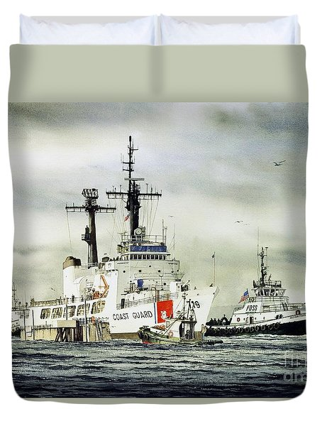 United States Coast Guard Boutwell Duvet Cover