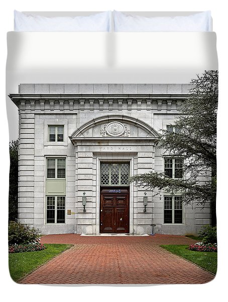 United States Naval Academy - Ward Hall Duvet Cover by Brendan Reals