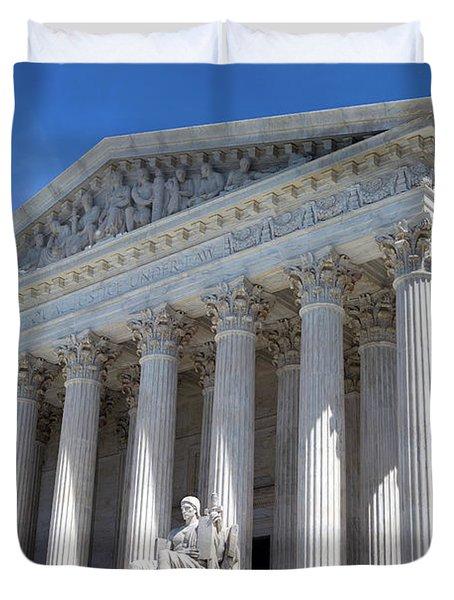 United States Supreme Court Building Duvet Cover