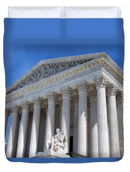 United States Supreme Court Building Duvet Cover