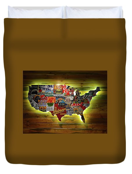United States Wall Art Duvet Cover