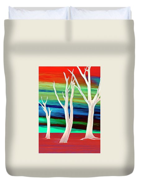 Duvet Cover featuring the photograph United Trees by Munir Alawi