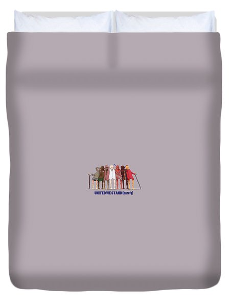 United We Stand Transparent Background Duvet Cover