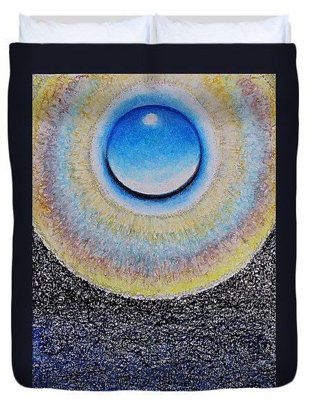 Universal Eye In Blue Duvet Cover