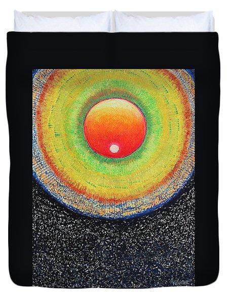 Universal Eye In Red Duvet Cover