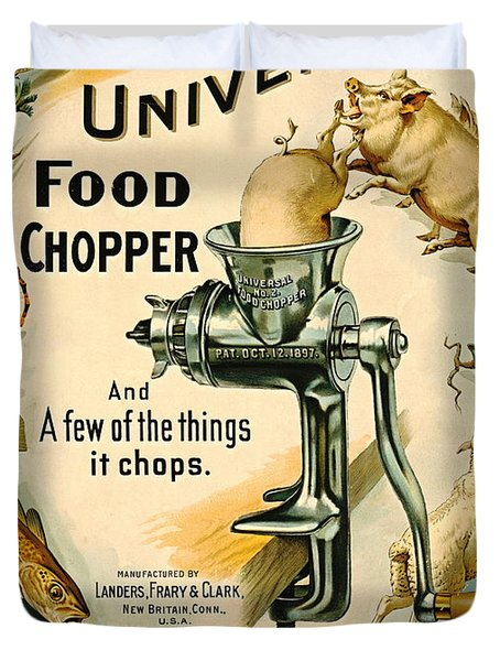 Universal Food Chopper 1897 Duvet Cover by Padre Art