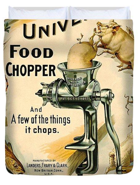 Universal Food Chopper 1897 Duvet Cover