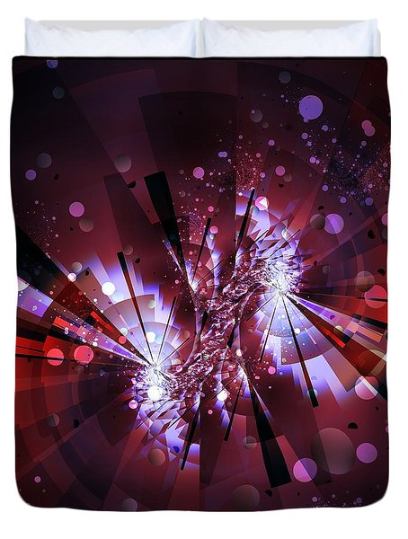 Duvet Cover featuring the digital art Universal by Michelle H