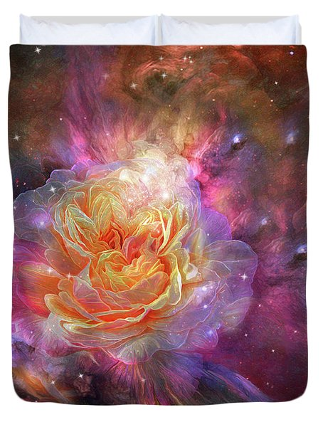Universe Within A Rose Duvet Cover