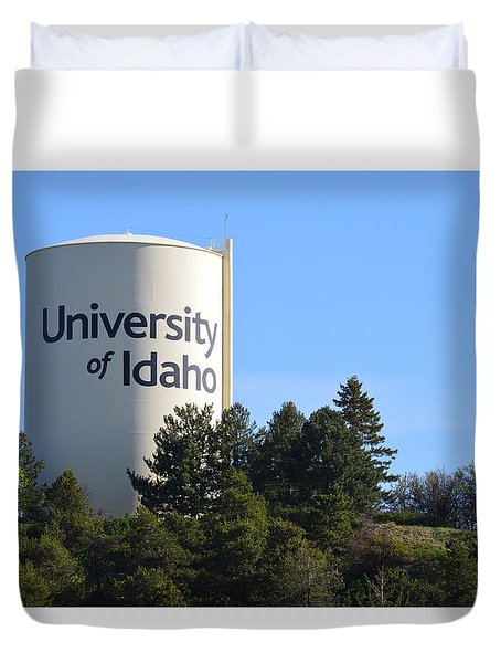 University Of Idaho Water Tower Duvet Cover