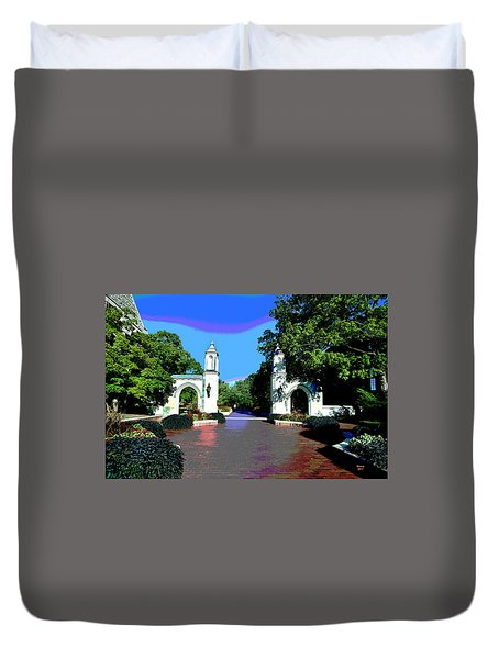 University Of Indiana Duvet Cover
