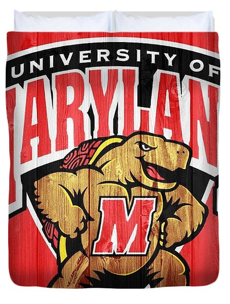 University Of Maryland Barn Door Duvet Cover