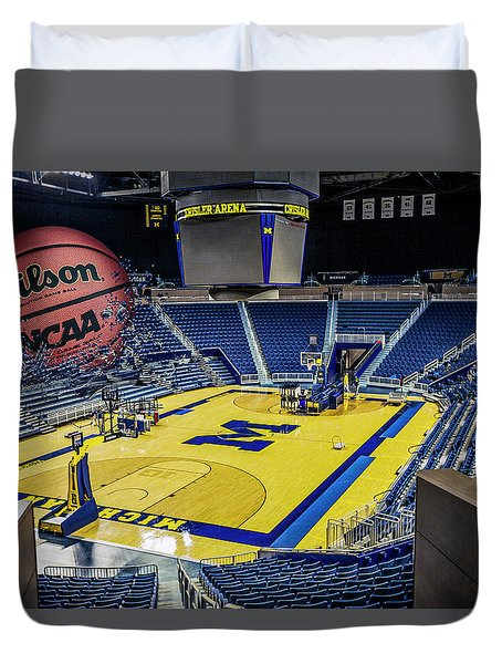 University Of Michigan Basketball Duvet Cover