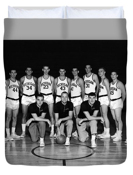 University Of Michigan Basketball Team 1960-61 Duvet Cover