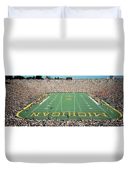 University Of Michigan Stadium, Ann Duvet Cover by Panoramic Images