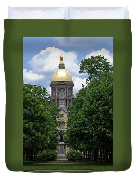 University Of Notre Dame Golden Dome Duvet Cover