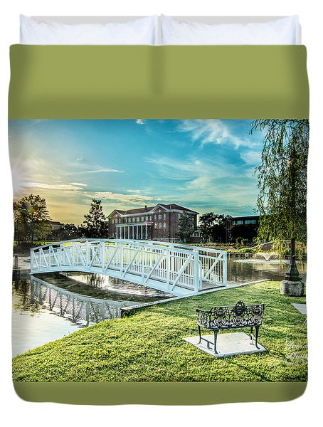 University Of Southern Mississippi Duvet Cover