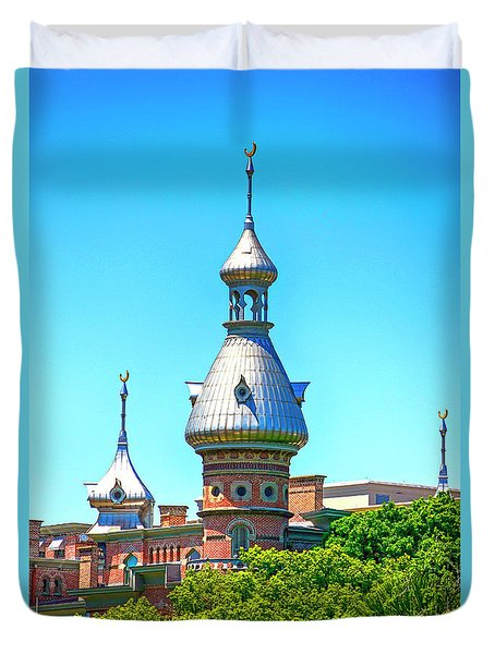 University Of Tampa Minaret Fl Duvet Cover
