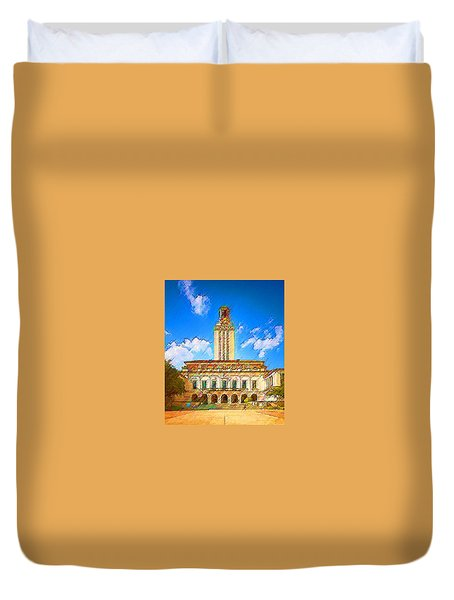University Of Texas Duvet Cover