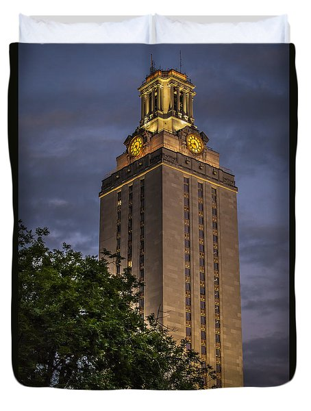 University Of Texas Tower Duvet Cover