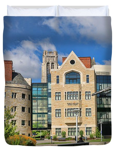 University Of Toledo Panorama 6203 6204  Duvet Cover