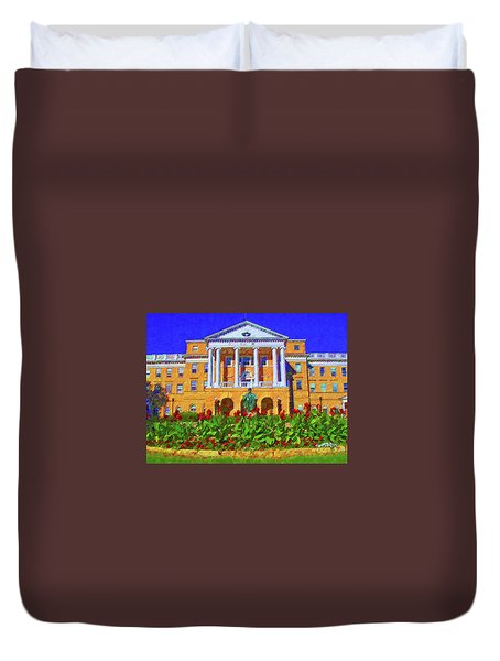 University Of Wisconsin  Duvet Cover