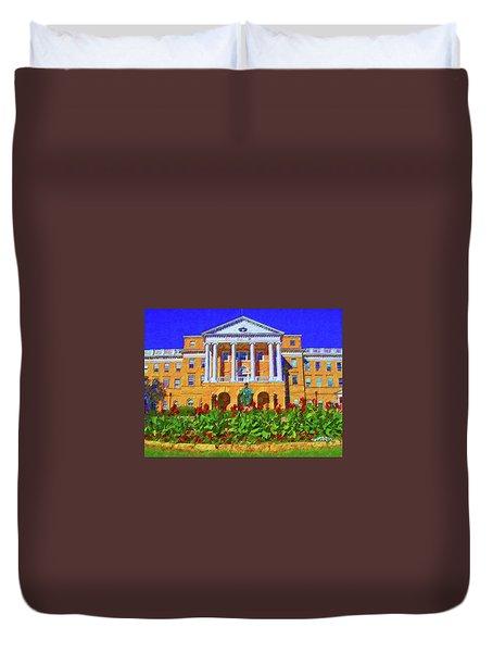 University Of Wisconsin  Duvet Cover