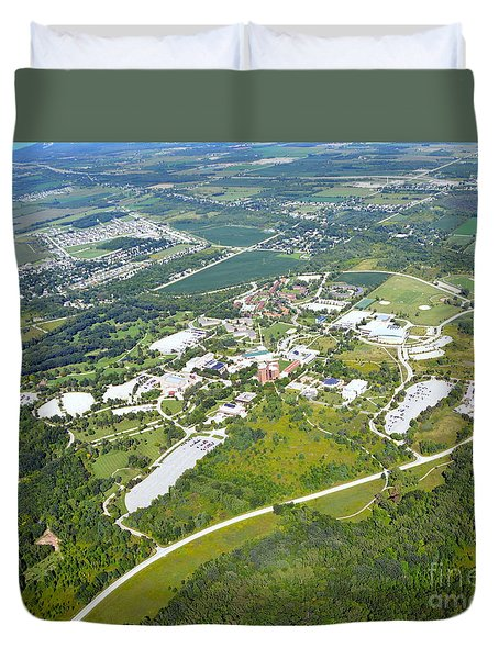 Duvet Cover featuring the photograph University Of Wisconsin Green Bay 2 by Bill Lang