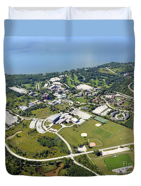 Duvet Cover featuring the photograph University Of Wisconsin Green Bay by Bill Lang