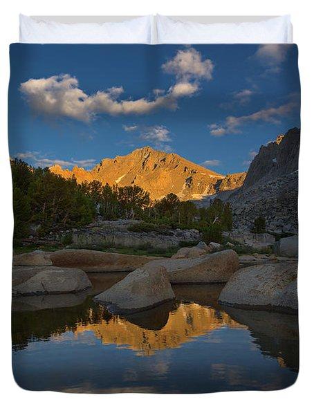 University Peak Sunset Duvet Cover