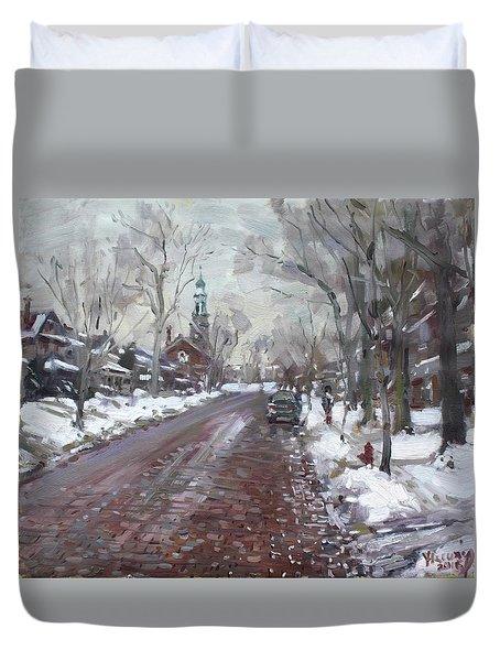 University Presbyterian Church Duvet Cover by Ylli Haruni
