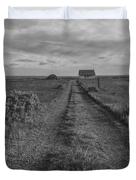 Unknown Road Bw Duvet Cover